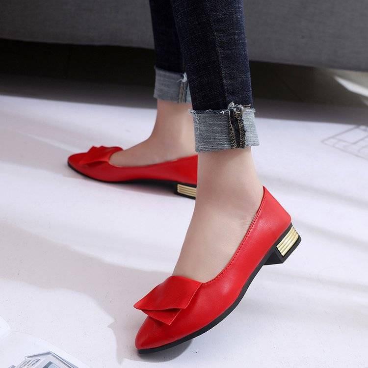 รองเท้าคัชชู ร้องเท้า รองเท้าผู้หญิง ✧รองเท้าเดียวรองเท้าผู้หญิงเด็กเกาหลี Peas รองเท้ารองเท้าหนังรองเท้าแบนลำลองหญิงเวอ