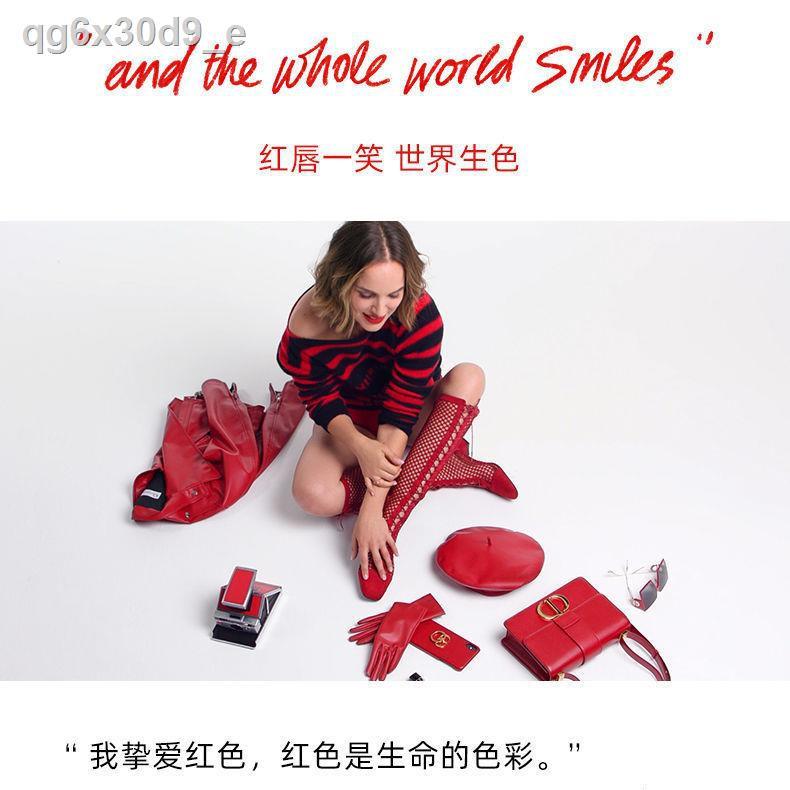Dior ลิปสติก◇☽[520 Gift] Dior Lipstick 999 Intense Matte Moisturizing Classic Red Big Girl Gift