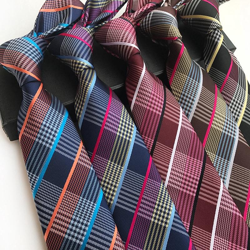 "New Polyester Woven Men/'s 2.5/"" slim necktie Wedding Stripes orange Prom"