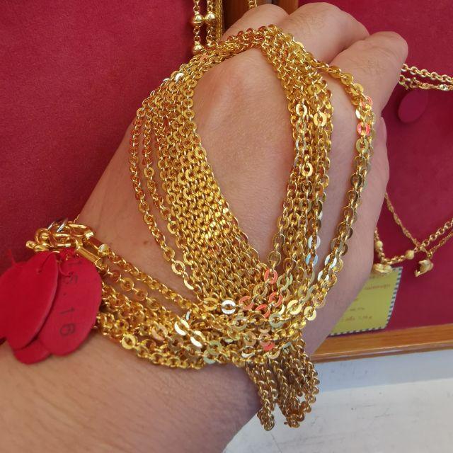  สร้อยคอทอง 96.5%  น้ำหนัก 1 บาท ยาว 30cm ราคา 28,800บาท