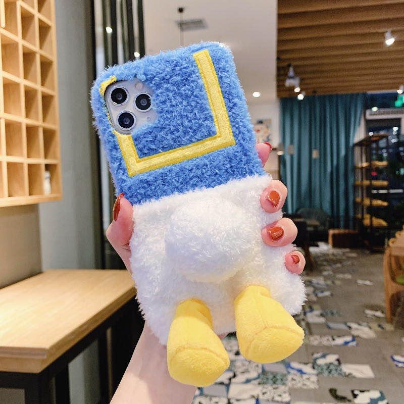 Samsung Galaxy A9 Stra A8 Plus 2018 A7 2017 A6 A5 2017 A3 2016 A9 2015 A9pro A750 A9s A8s A6s A720 A520 A320 A710 A510 A310 A2 Core Cute Plush Cartoon Duck Butt Soft Phone Case