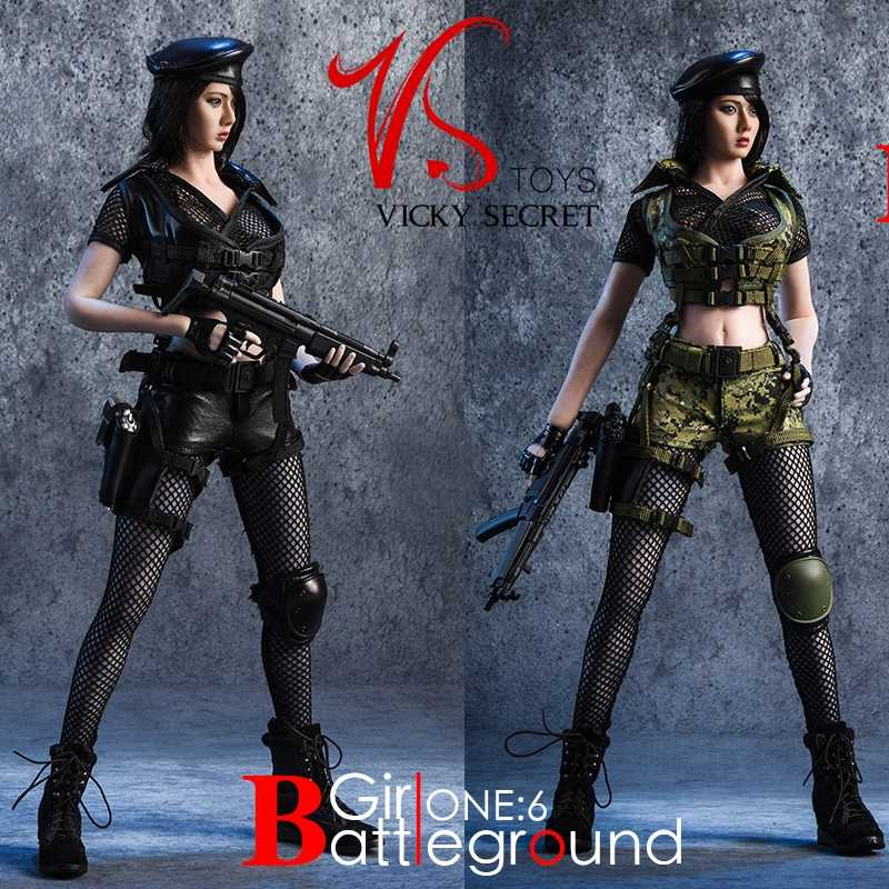 Vstoys 1/6 Female Soldier Battlefield Girl Suit 18xg13 Female Soldier Costume 12'' Action Figure Figure Clothes Model In