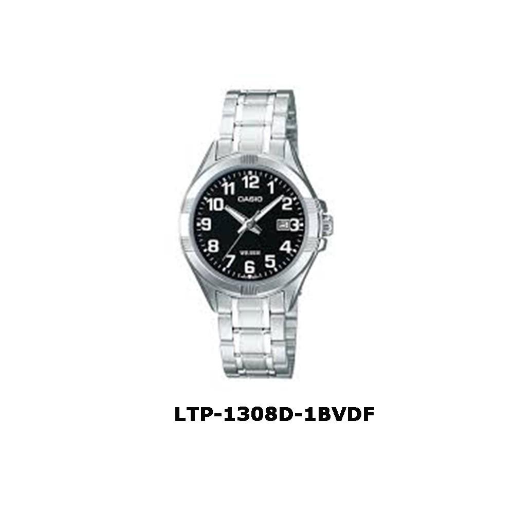 Casio ของแท้ 100%นาฬิกาผู้หญิง สายสแตนเลส LTP-1308D-1BVDF พร้อมกล่องและรับปนาฬิกา casio ผู้หญิงนาฬิกา casio ชาย