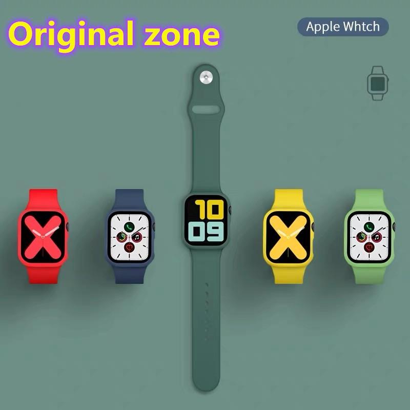 พร้อมส่งจากไทย(เคส+สาย)เคสสาย นาฬิกาApple Watch SE ขนาด 38 มม.40 มม.42 มม.44 มม. glass+pcสำหรับ iWatch Series6/5/4/3/2/1