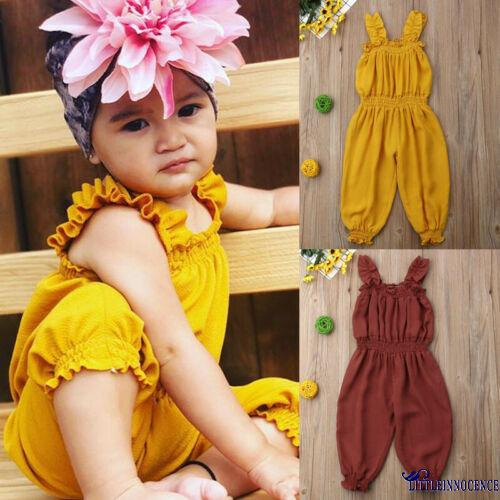 Newborn Baby Girl Summer Flower Clothes Romper Jumpsuit Bodysuit Sunsuit Outfits