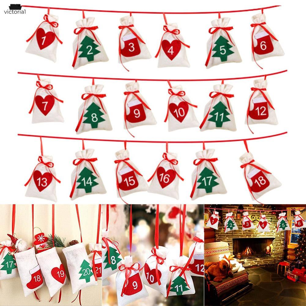 Black btdeal Christmas Countdown Advent Calendar with 24 Days ...