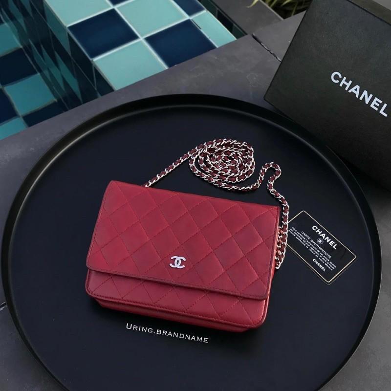 Chanel woc holo19 สีแดง
