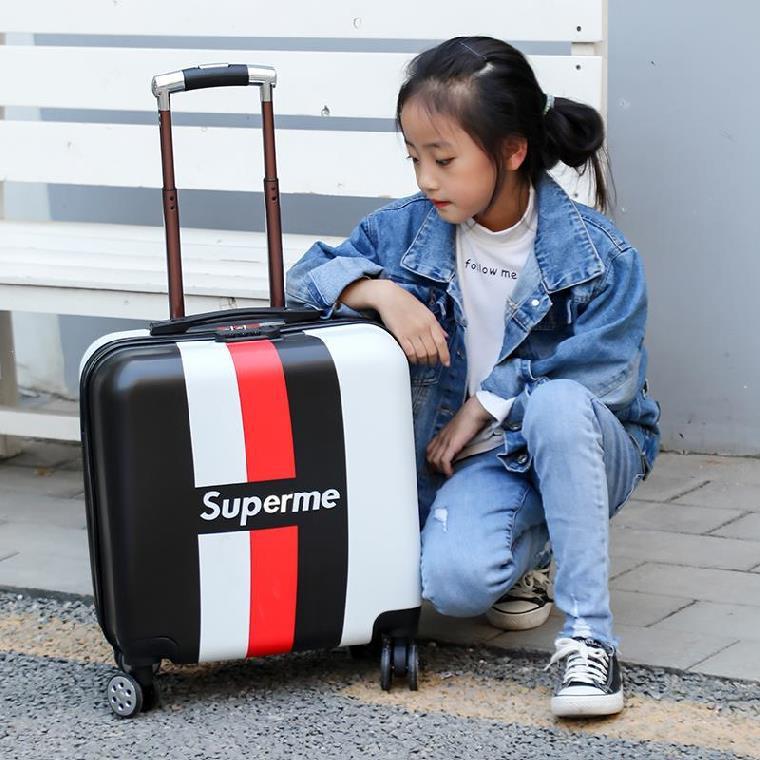 ◍♨ กระเป๋าเดินทางพกพา  กระเป๋ารถเข็นเดินทางกระเป๋าเดินทางเด็ก เด็กผู้หญิงรถเข็นกระเป๋าเดินทางกระเป๋าเดินทางเจ้าหญิงกระเป
