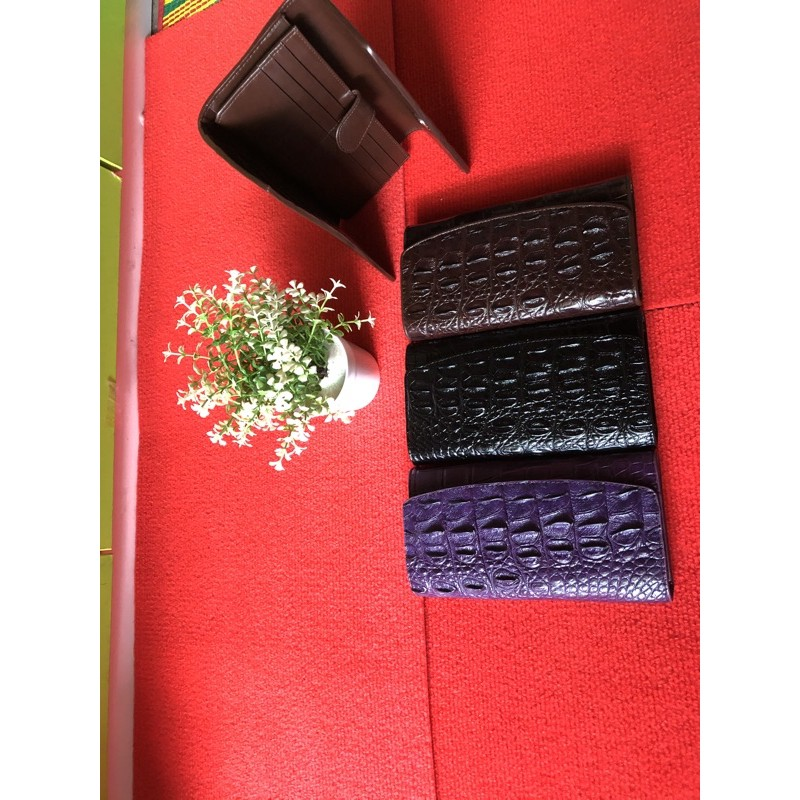 cro real leather skin wallet