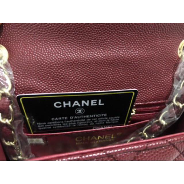 """! Chanel classic mini 7"""" red"""