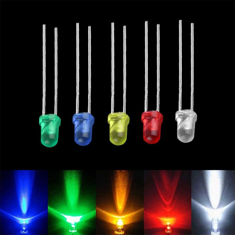 100pcs 3mm Green Round Superbright LED Light LED lamp NEW