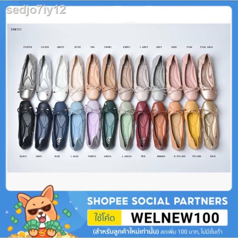 รองเท้าผู้หญิงNew 19 สี มาเพิ่ม ดำ 🔥🔥รองเท้าคัชชูผู้หญิง. แต่งโบว์น่ารักๆ