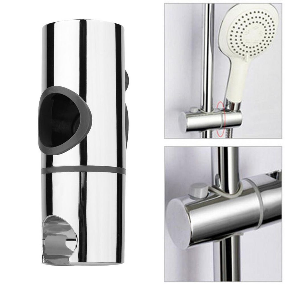 Shower Head Bracket Holder Stand ABS Replacement Adjustable Chrome For Bathroom