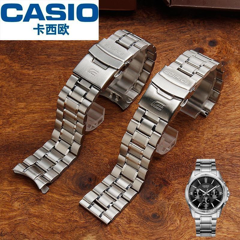 CASIO สายนาฬิกาข้อมือสแตนเลส 18202224 มม . สําหรับผู้ชาย