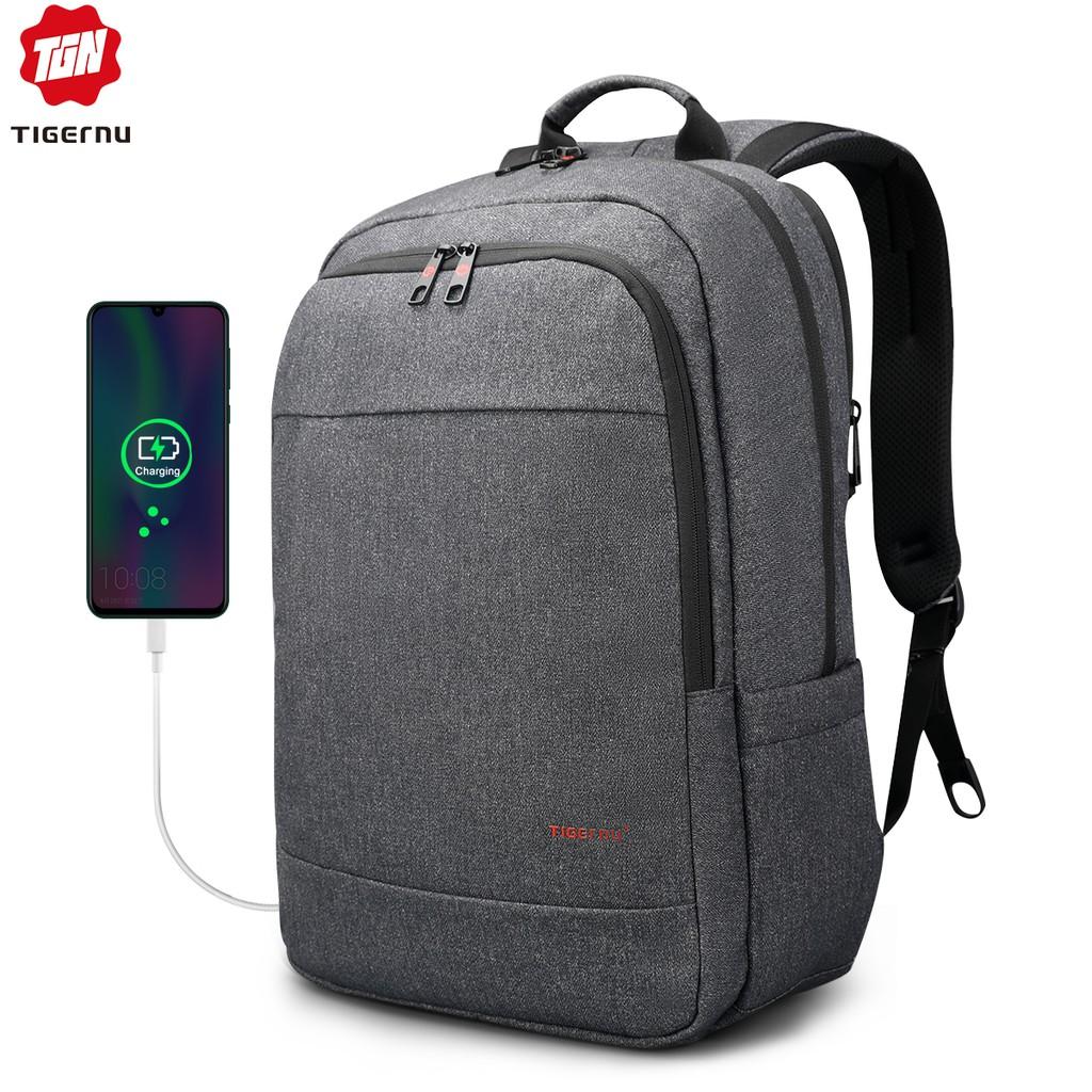 Tigernu Usb Charging 15 . 6 กระเป๋าเป้สะพายหลังกระเป๋าแล็ปท็อปกระเป๋าเดินทาง