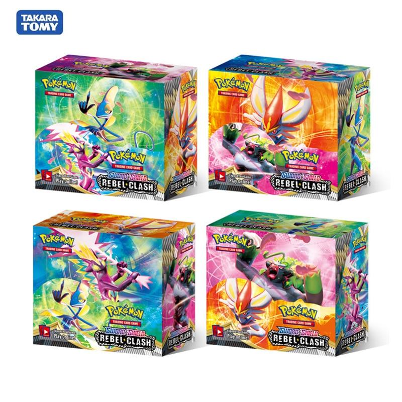 ใหม่324Pcs/Box Pokemon Cards TCG: Sun & Moon Unified Minds Team Up Sword Shield Booster Box Pokemon Trade Card Sent Rand