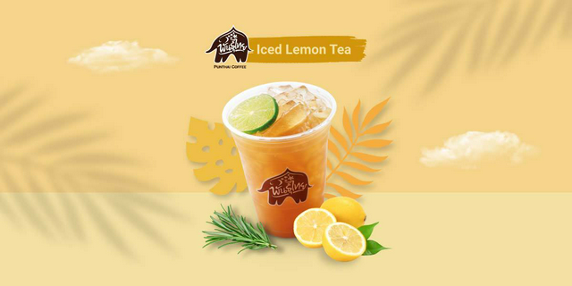 [ดีลส่วนลด] Punthai Coffee : Iced Lemon Tea Special Price
