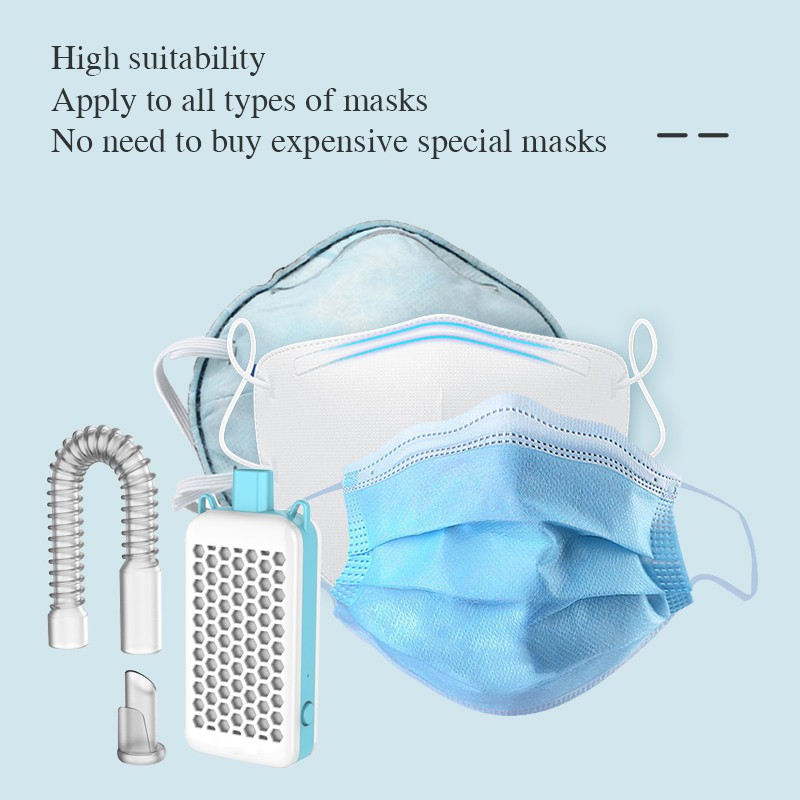 Face Mask Air Conditioner Face Air Purifier Mask With Fan And Filter Face Cooler
