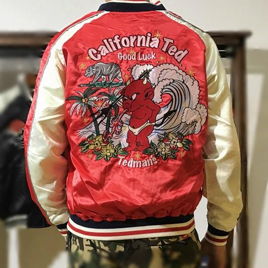 SUKAJAN พรีเมียมเกรด Japanese Souvenir Jacket  แจ็คเกตซูกาจันลาย  TEDMAN  CALIFORNIA TED