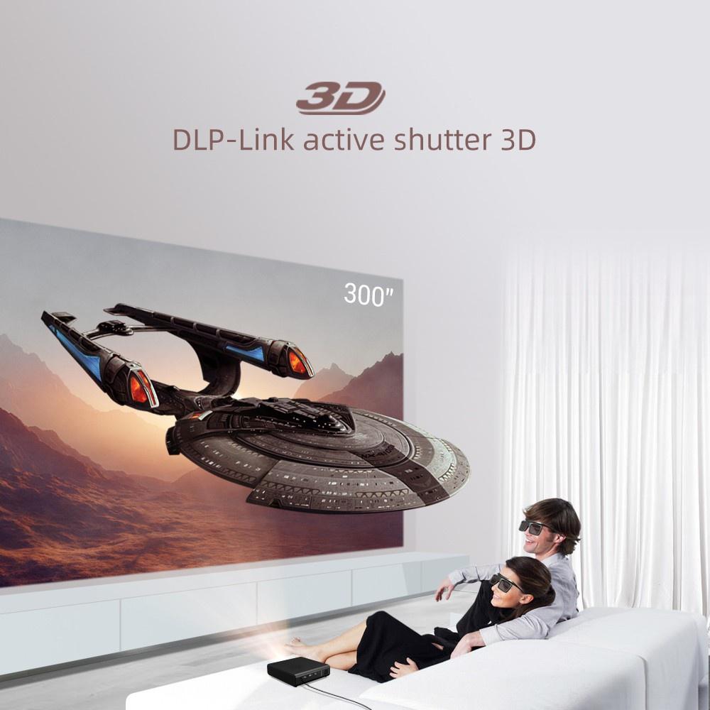 ✤►♨BYINTEK U30 Full HD 1080P 2K 3D 4K Android Smart TV Wifi แบบพกพา LED DLP Mini Projector Beamer สำหรับ PC สมาร์ทโฟน✡