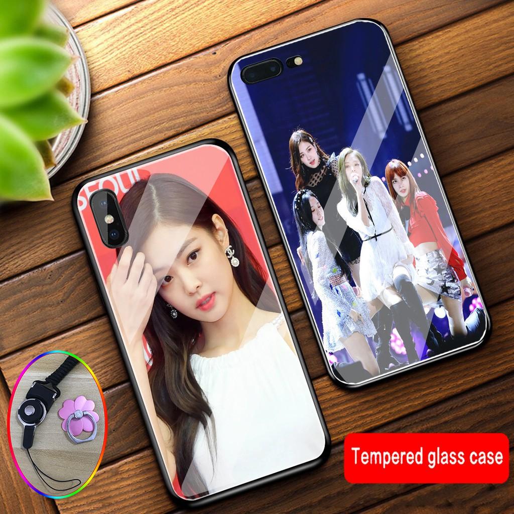 เคส Glass case Samsung A9star pro M11 S7 edge S10 plus S10e S10 lite A91 M80S S20 plus S20 Ultra A8S A9Pro 2019 A6plus A72018 A8star A82018 A8plus Blackpink case