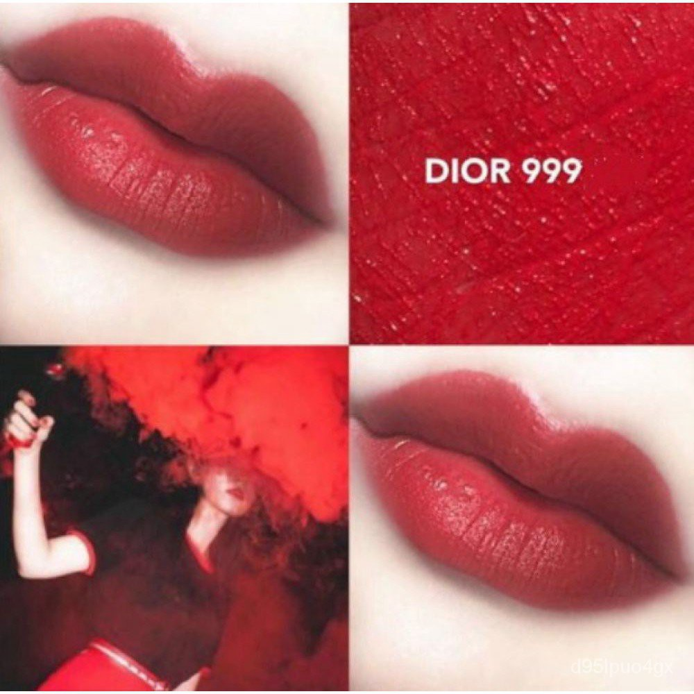 lipstick DIOR 999 matte moisturizing metal classic red/ดิออร์ลิปสติก DIOR 999 แมตต์เมทัลมอยส์คลาสสิกสีแดง zxoA