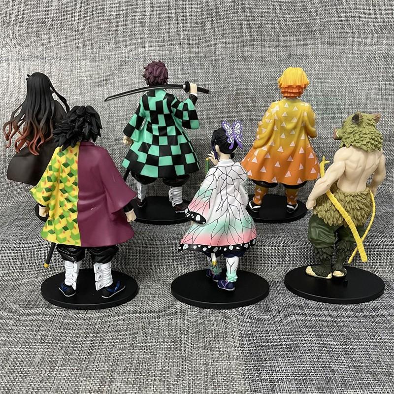 ∈6 รูปแบบ Anime Demon Slayer Action Figure Model ของเล่น.7z