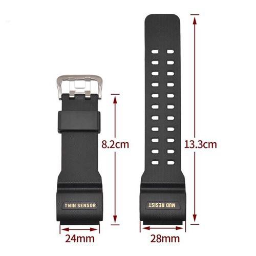 สาย applewatch แท้ สาย applewatch สายนาฬิกาใช้ได้กับ Casio G Shock ของรุ่น GG-1000 และ Sport Watch สายดำด้าน