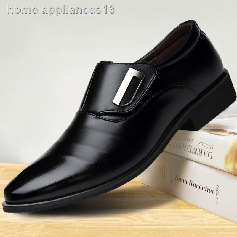 ■❅รองเท้าหนังผู้ชาย BLACK (สีดำ) Men's Business Dress Shoes CUPual Wedding รองเท้าหนังชาย รองเท้าผู้ชาย รองเท้าคัชชู ผ