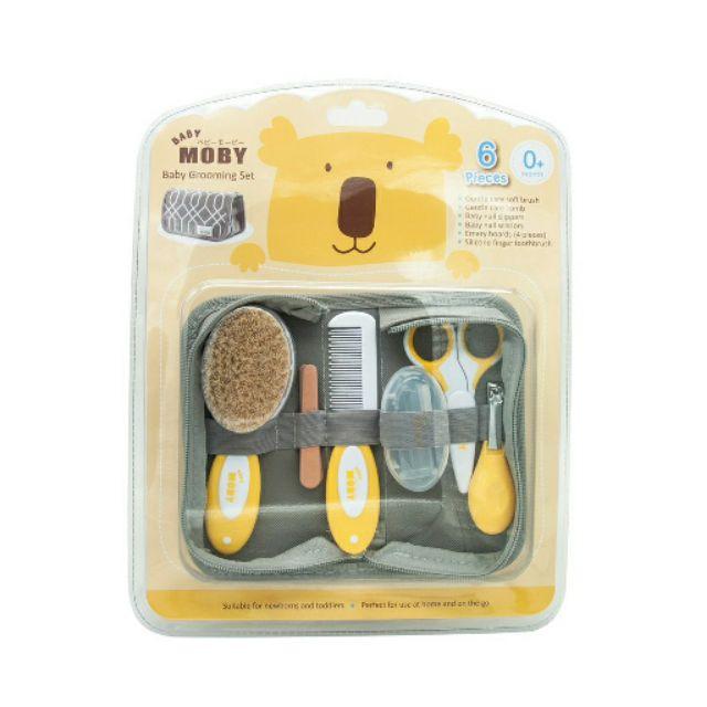 สินค้าเฉพาะจุด、ผ้าเช็ดทำความสะอาด、เจลล้างมือเด็ก、แชมพูเด็ก、เจลอาบน้ำเด็กMoby เบบี้ โมบี้ ชุดอุปกรณ์ตัดเล็บและหวี (ฺBaby