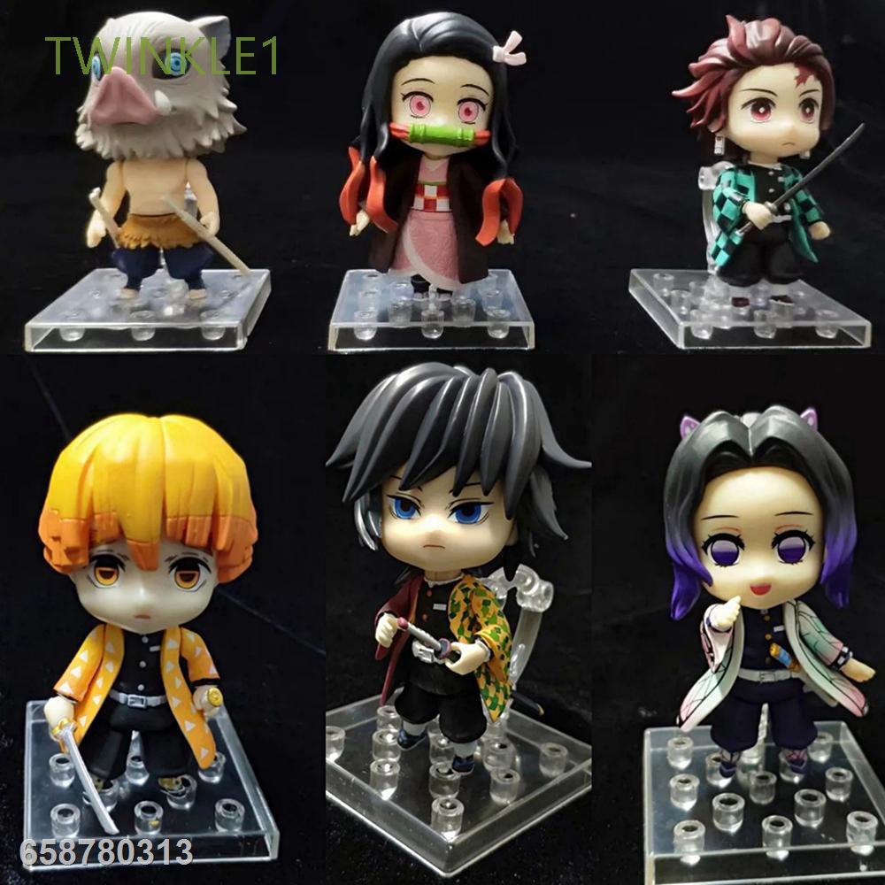 ◘PVC Anime Demon Slayer Blade Toy Figures Action Figure Toys Shinobu Agatsuma Collection Doll Ornaments Kimetsu no Yaib