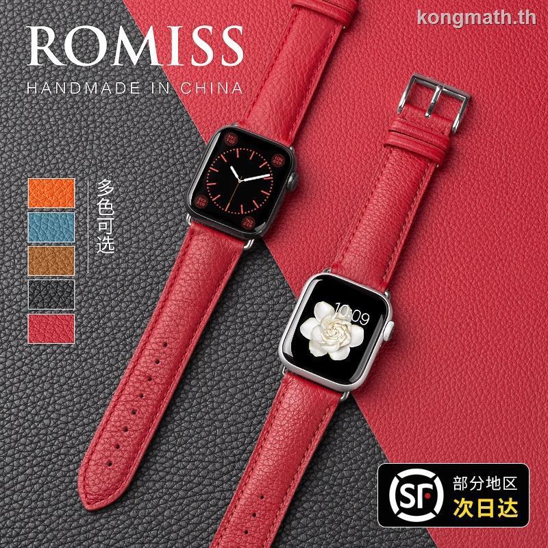 สายนาฬิกาข้อมือหนังวัวสําหรับ Iwatch6 New Applewatch Se Apple Watch 5 / 4 / 3 / 2 Generation 38 / 42 Series40 / 44 มม .