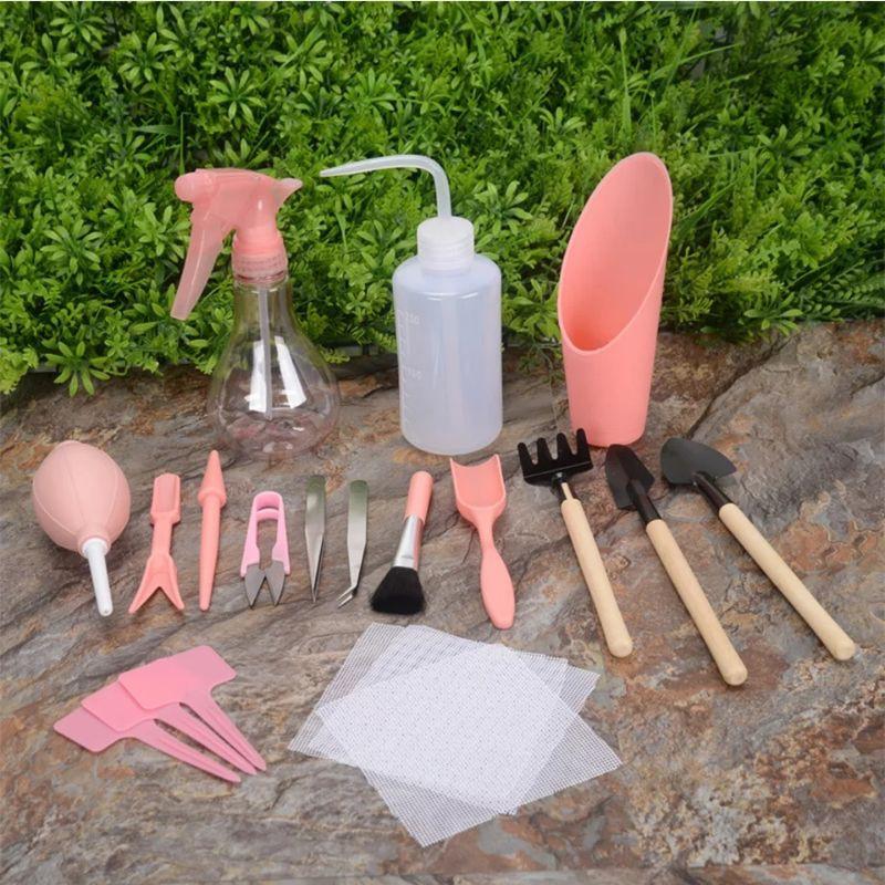 Mini tools อุปกรณ์ปลูกแคคตัส ไม้จิ๋ว ไม้อวบน้ำ 16 ชิ้น