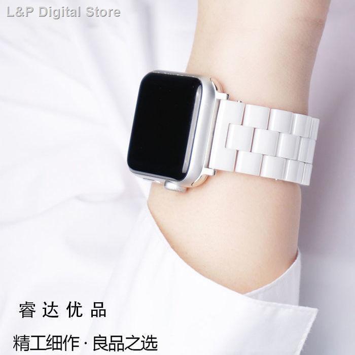 【อุปกรณ์เสริมของ applewatch】♤♨สายนาฬิกา Apple ที่ใช้ได้ applewatch6 / SE 543 สายรัด iwatch โลหะสแตนเลสเซรามิก
