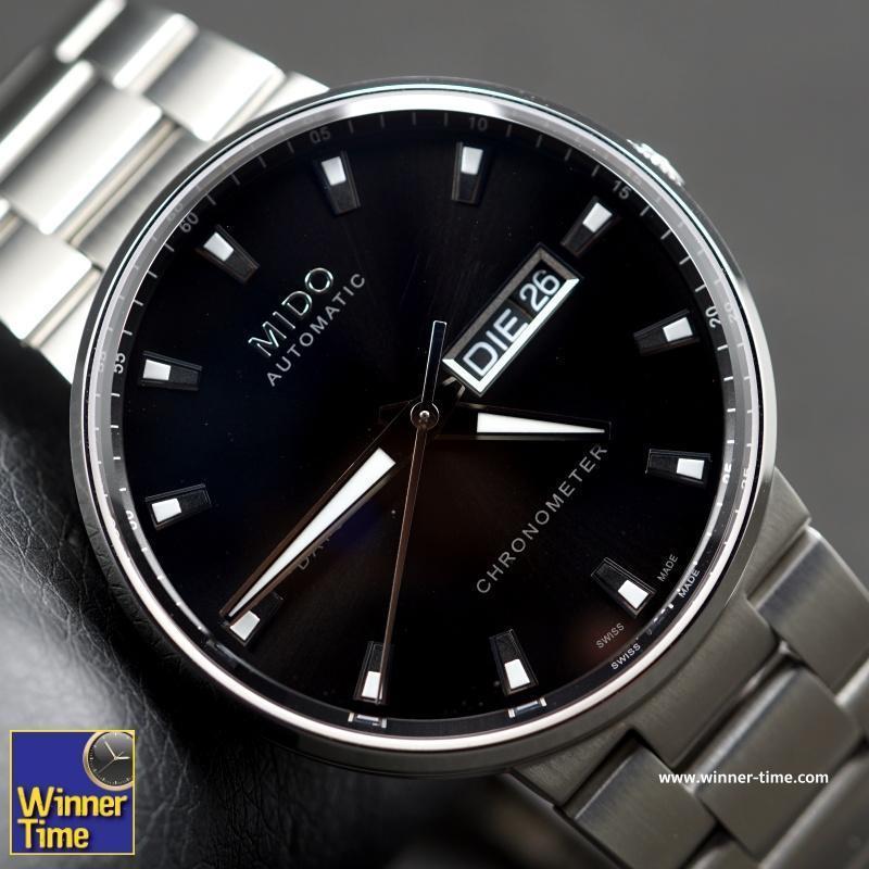 Winner Time นาฬิกา ผู้ชาย MIDO Commander II Automatic Black Dial Men's Watch M014.431.11.051.00 รับประกันบริษัท C.THONG PANICH 2 ปี