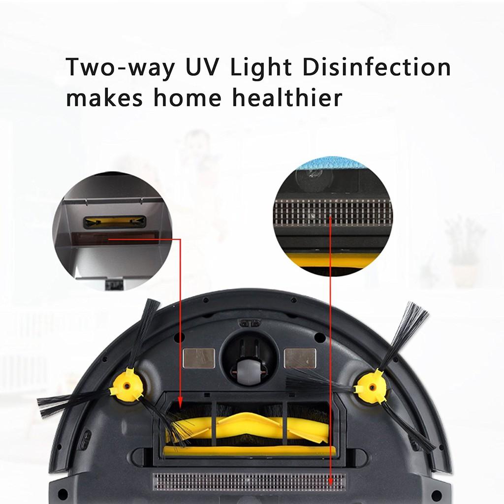 Robot Vacuum หุ่นยนต์ดูดฝุ่นและถูพื้น B6009 WIFI มีแท็งค์น้ำ ระบบ HYBRID