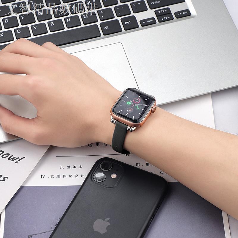 สายนาฬิกาข้อมือหนังแท้ Applewatch6 / Se / 4 / 3 / 2 / 1