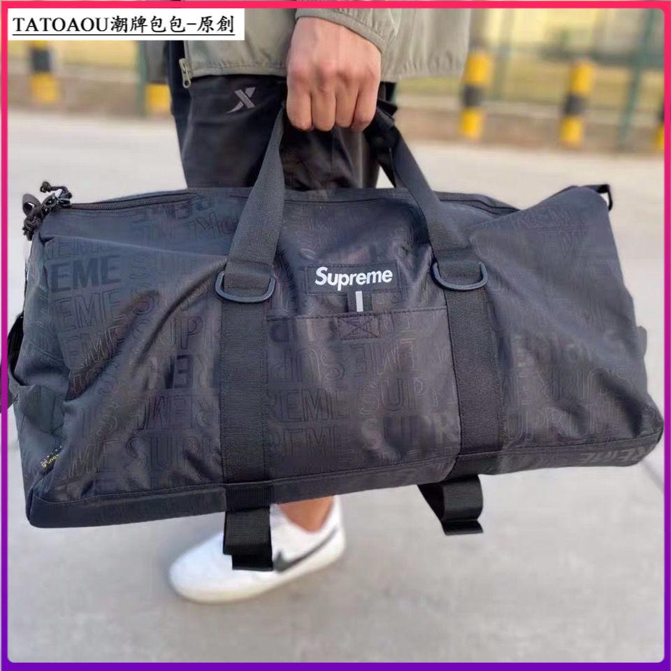 Supreme 19 Ss Duffle Bag กระเป๋าถือพิมพ์ลายโลโก้เหมาะกับการพกพาเดินทาง