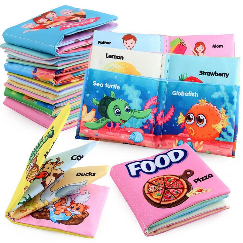 [attractivefinewell 0722] 1pcs Cloth Books Soft Baby Book Rustle Sound Baby Quiet Books Early Learning Toy