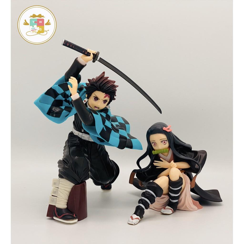 Kimetsu no yaiba figure model tanjiro nezuko demon slayer ดาบพิฆาตอสูร ทันจิโร่ เนสึโกะ ฟิกเกอร์ โมเดล ของเล่น 🇨🇳