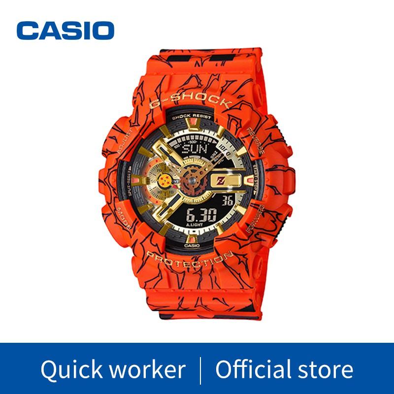 CASIO G-SHOCK นาฬิกาข้อมือแฟชั่นในรูแบบ Dragon Ball รุ่น GA-110JOB-1A4 สุดฮอตในปี2020 หน้าปัด40mm พร้อมกล่อง นาฬิกาข้อมื