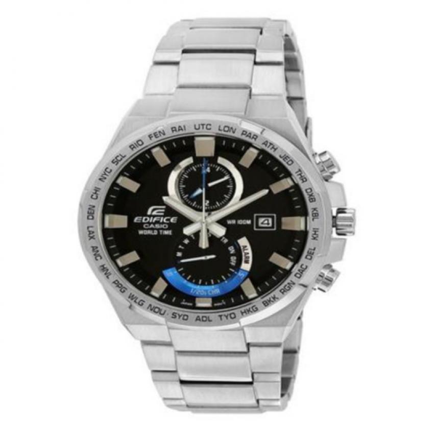 Casio Edifice นาฬิกาข้อมือชาย สายสแตนเลส รุ่น EFR-542D-1AV - Silver