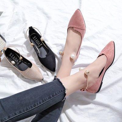 รองเท้าหัวแหลม ขนาด 35-40 รองเท้าส้นเตี้ย รองเท้าส้นแบน รองเท้าคัชชูหัวแหลมผู้หญิง 2021