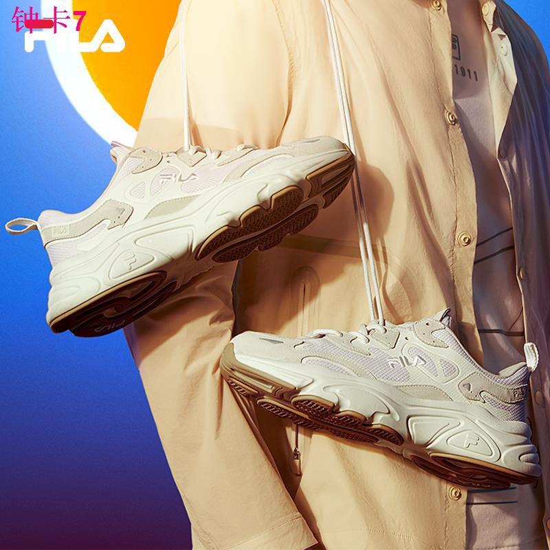 ☁✓▬FILA รองเท้าวิ่ง laoba รองเท้าหญิงดาวอังคาร 2021 ฤดูใบไม้ผลิและฤดูร้อนใหม่ย้อนยุคลำลองชายรองเท้ากีฬารองเท้าวิ่ง