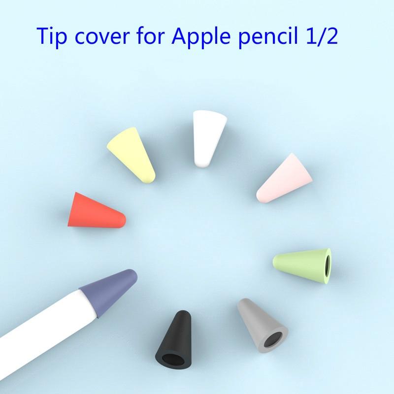 กล่องดินสอแบบซิลิโคนหลากสี 8 ชิ้น apple pencil tip case cover
