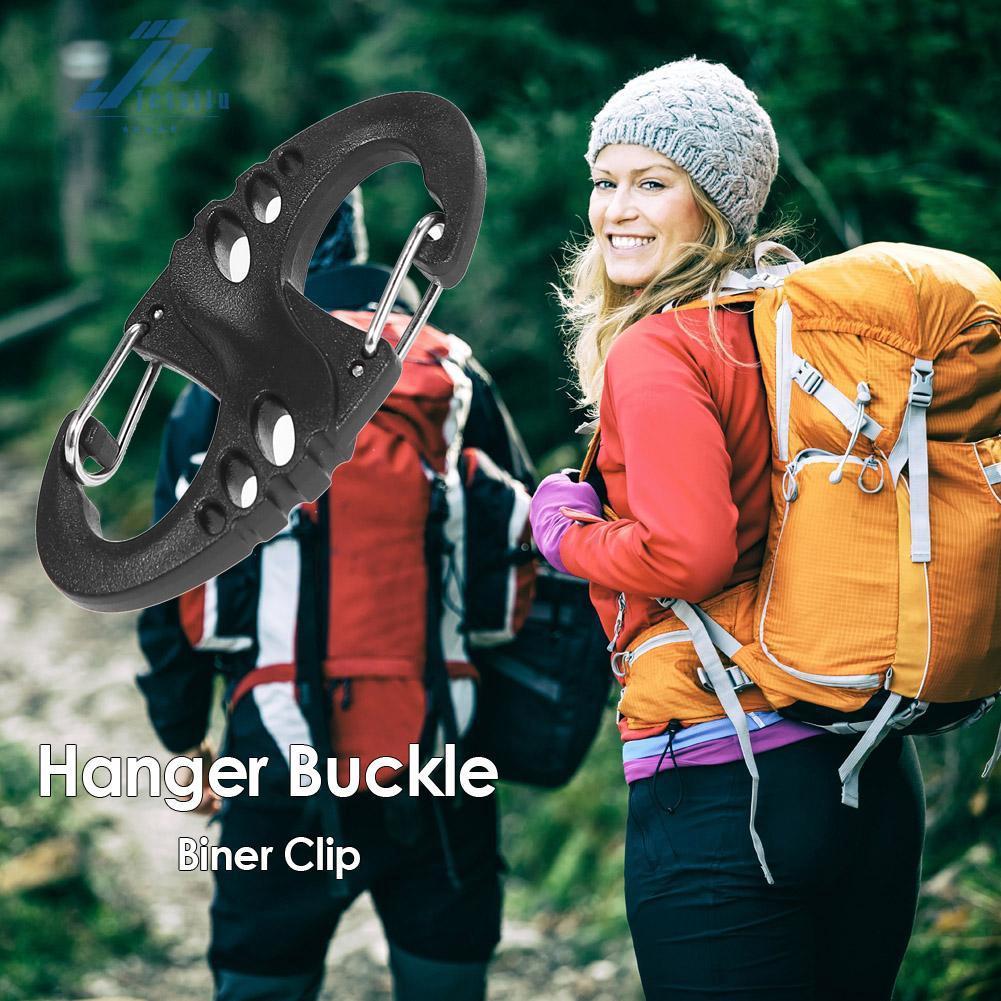 jes exclusive carabiner 8 s shape คลิปหนีบกระเป๋าเป้สะพายหลังเหมาะกับการพกพาเดินทาง
