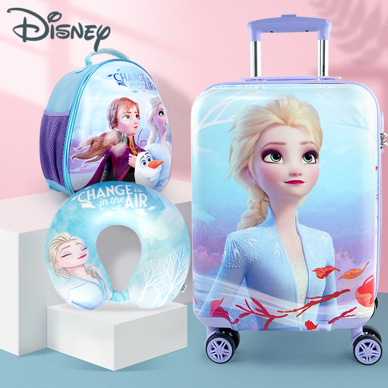 ☆ゃกรณีรถเข็น กระเป๋าเดินทางล้อลากใบเล็ก กระเป๋าเดินทางล้อลากกระเป๋าเดินทางเด็กดิสนีย์16นิ้วสาวเจ้าหญิงกระเป๋าเดินทางล้อส