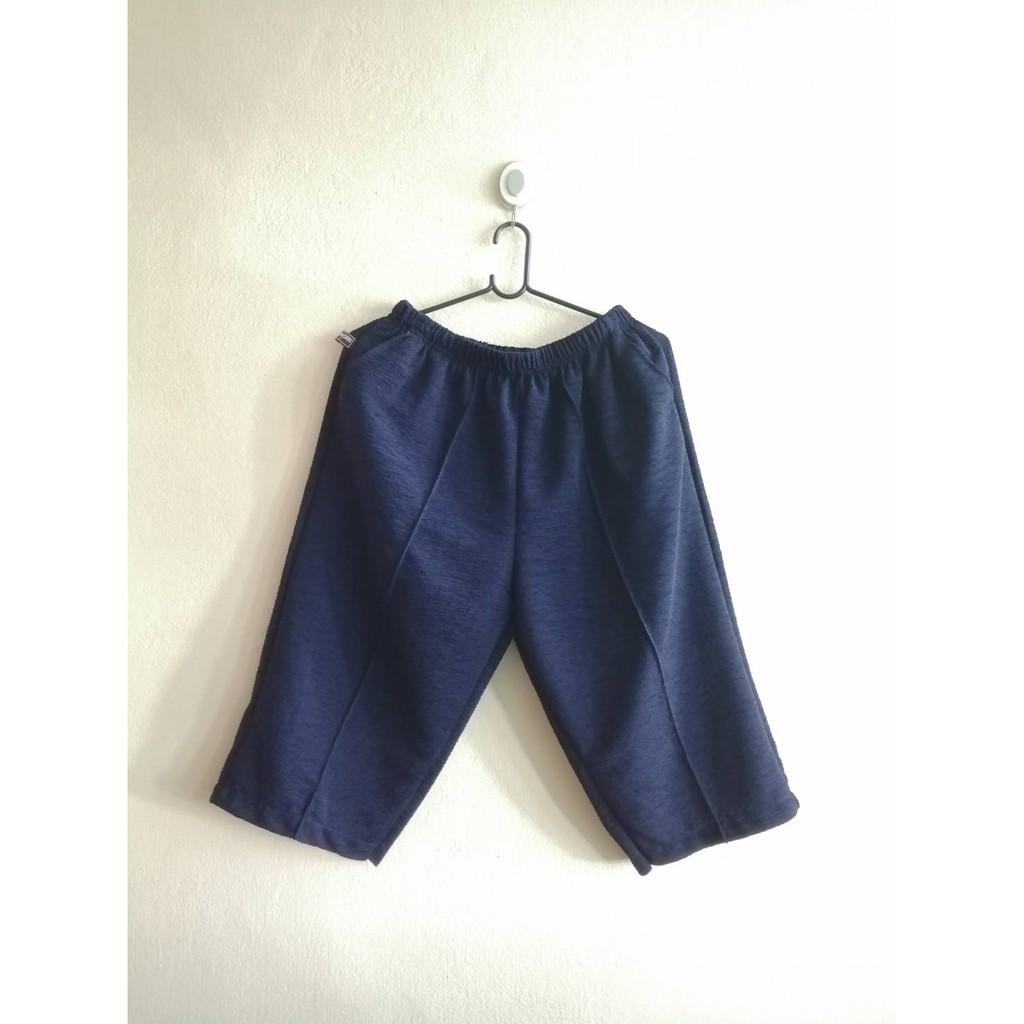 กางเกงหนังไก่ กางเกงขาสี่ส่วน ผ้าหนังไก่ กางเกงแม่บ้าน กางเกงผ้ายืด กางเกงใส่สบาย กางเกงคนแก่ กางเกงผู้หญิง กางเกงคนอ้วน