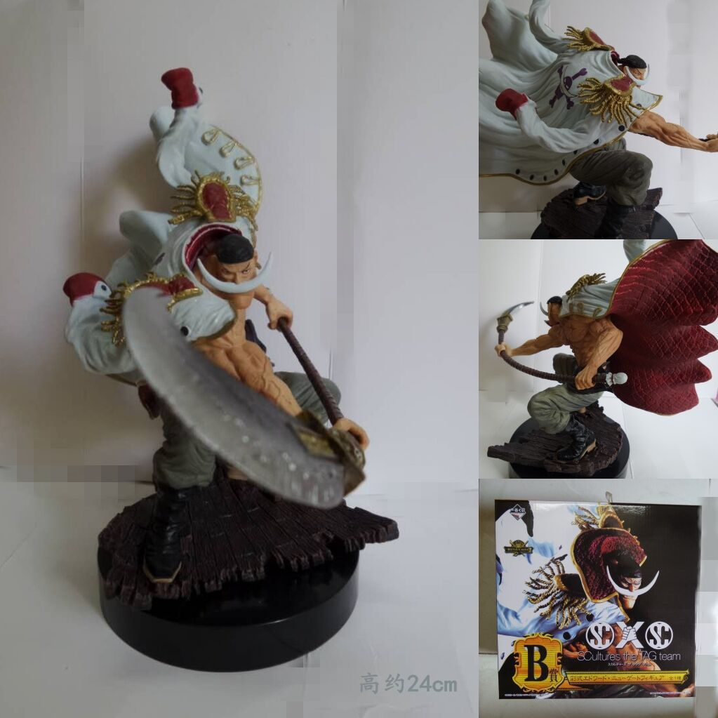 One Piece White Beard Action Figure painted figure Edward Newgate Doll PVC figure Garage Kit Toy Brinquedos Anime