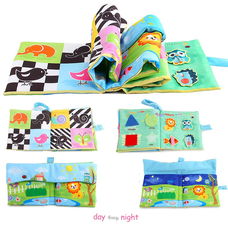 Baby Toys Infant Kids Early Development Cloth Books Learning Education Unfolding Activity Books Stereoscopic Animals